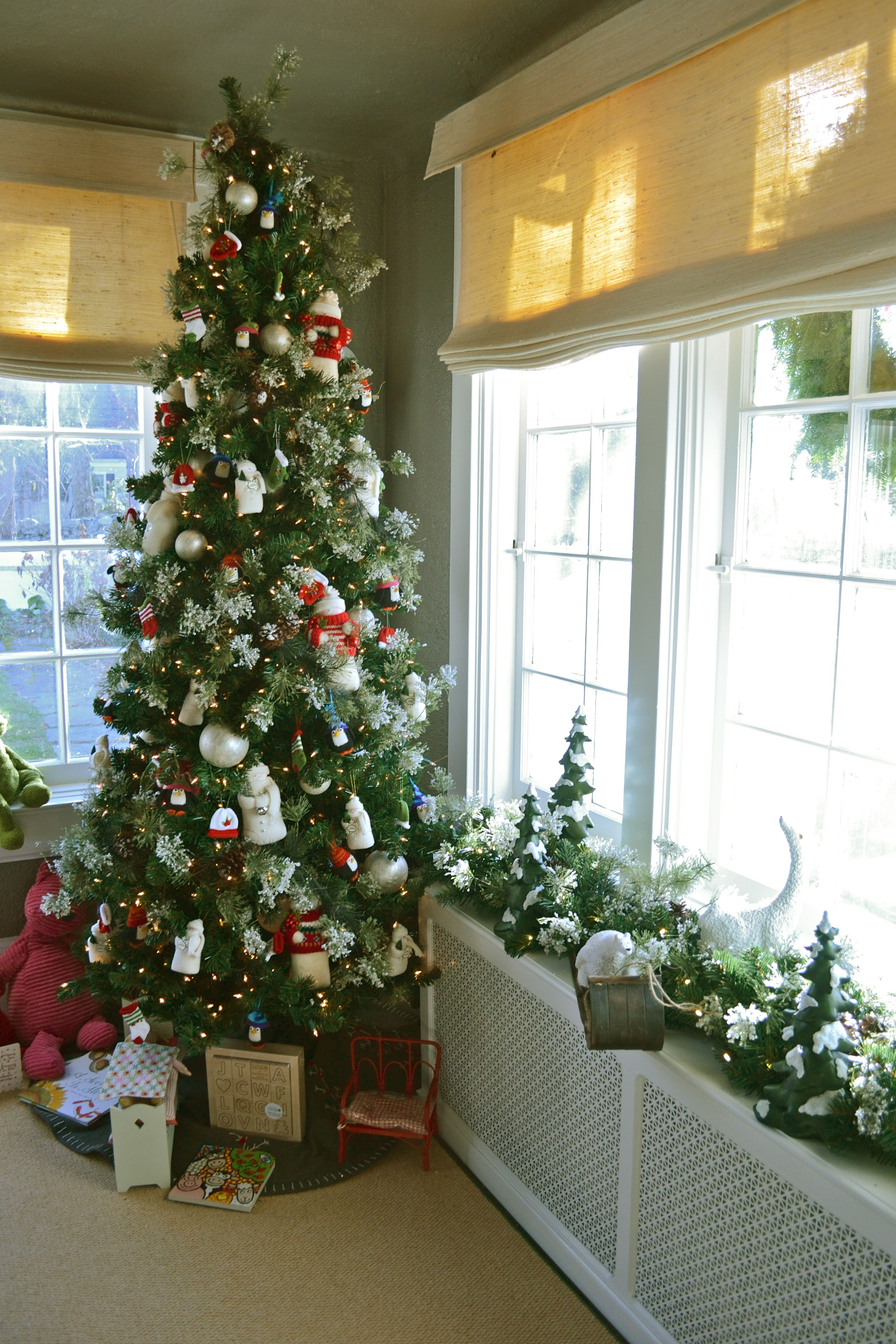 Slim Christmas Tree Fits Beautifully In The Corner Of Your Living Room Or D Christmas Tree And Fireplace