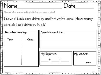 Common Core Addition Subtraction Word Problems Sums To 100 2 Oa