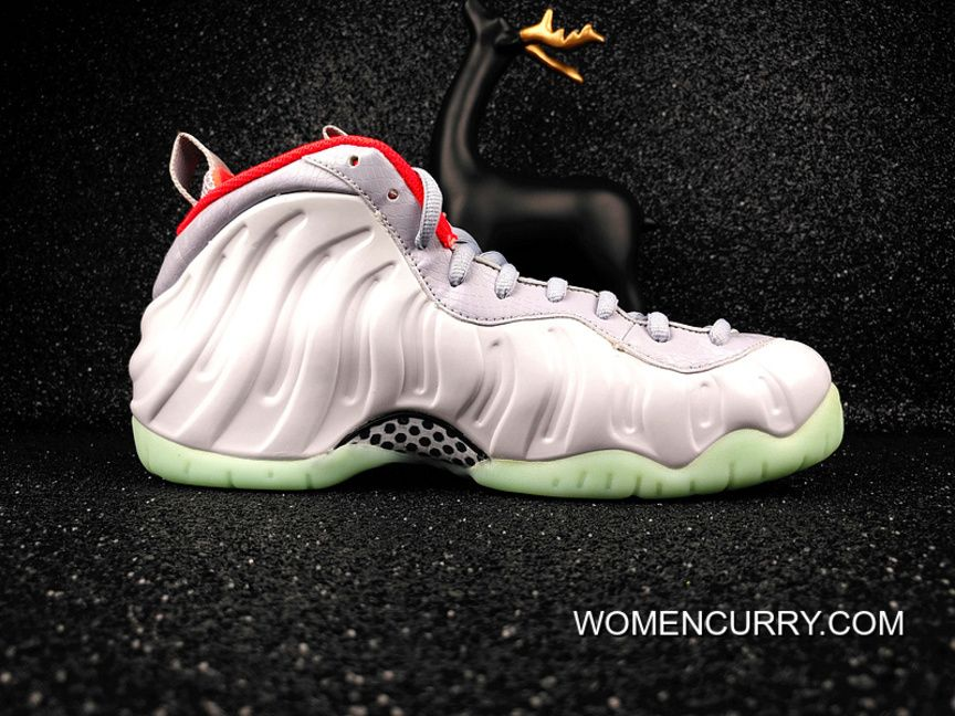 promo code cff42 53d1b Nike Air Foamposite Pro Prm Pure Platinum -Grey   Red Authentic