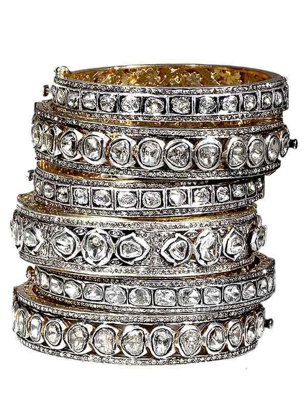 $1950 Rose Cut Diamond Bracelets from 1950.