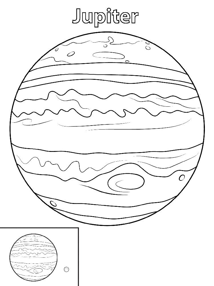Jupiter Planet Coloring Pages Planeta Jupiter Paginas Para Colorear Planeta Dibujo