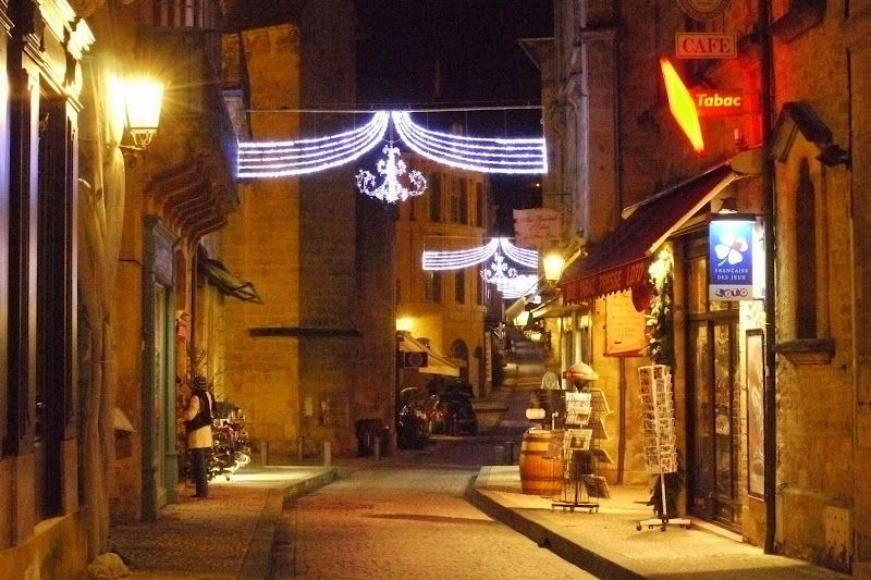 Beautiful French village over the holidays.