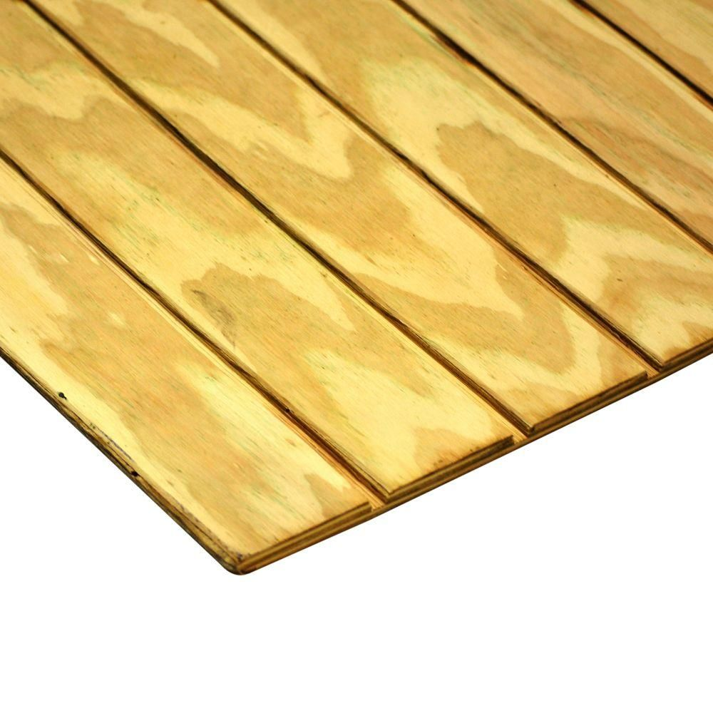 Exterior Plywood Home Depot: 19/32 In. X 4 Ft. X 8 Ft. T1-11 4 In. On-Center Ground