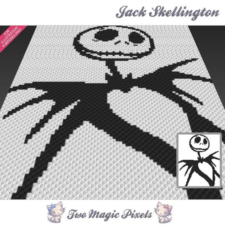 Jack Skellington C2C Crochet Graph | Crochet | Pinterest | Crochet ...