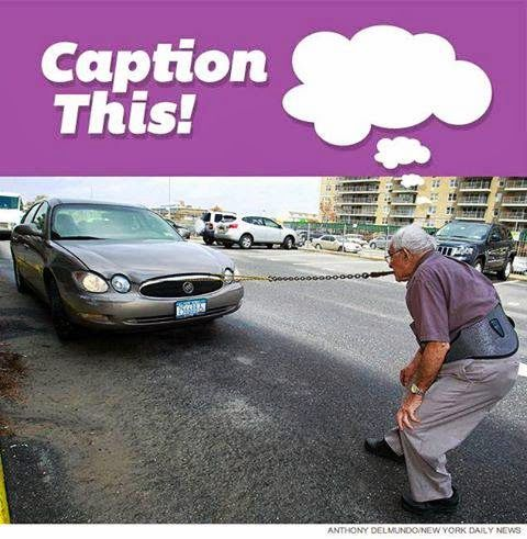 Can you caption this 92 year old strong man pulling a car with his teeth? LOL... #Dentist