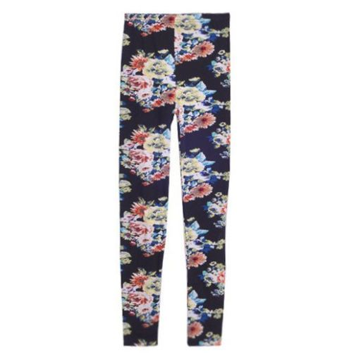 Women's Lady Nordic Knitted Leggings Stretchy Tights Skinny Pencil Pants DK07