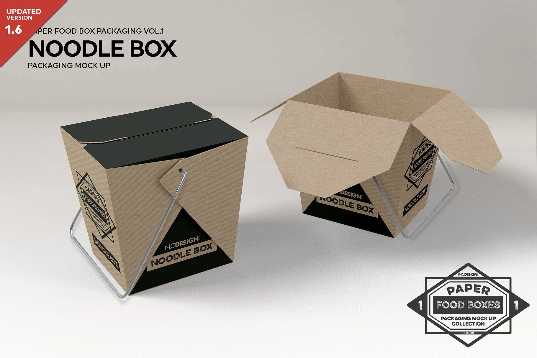 8ec38208eb41 #10: Chinese Noodle Take out Boxes Packaging Mock Up (Updated v1.6) Perfect  for presentations and showcasing your design work.