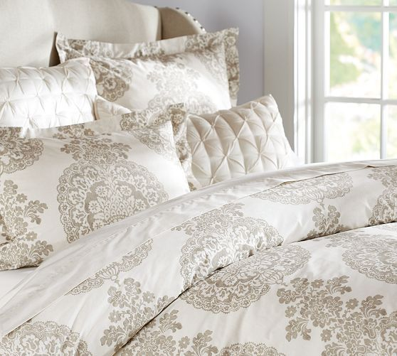 If We Dont Want To Paint Lucianna Medallion Duvet Cover