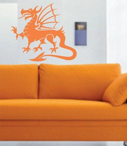 Tribal Dragon Wall Decal Sticker Mural Art Graphic Dragon Kid Boy Room Asian 101 on Etsy, $24.00