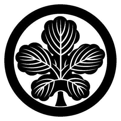 My Home S Family Crest Female Use Kaji No Ha 我が家の定紋 梶の