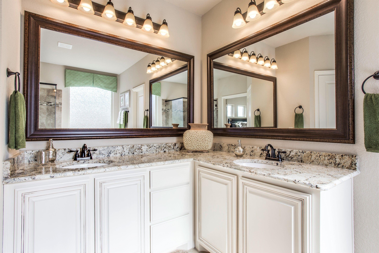 Double Sink Storage Nice Bright Lights Bathrooms Bathroomdesign