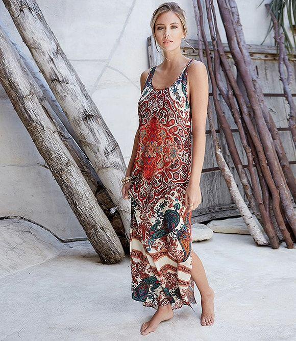 c48dcf9647c Karen Kane Side Slit Maxi Dress - - L