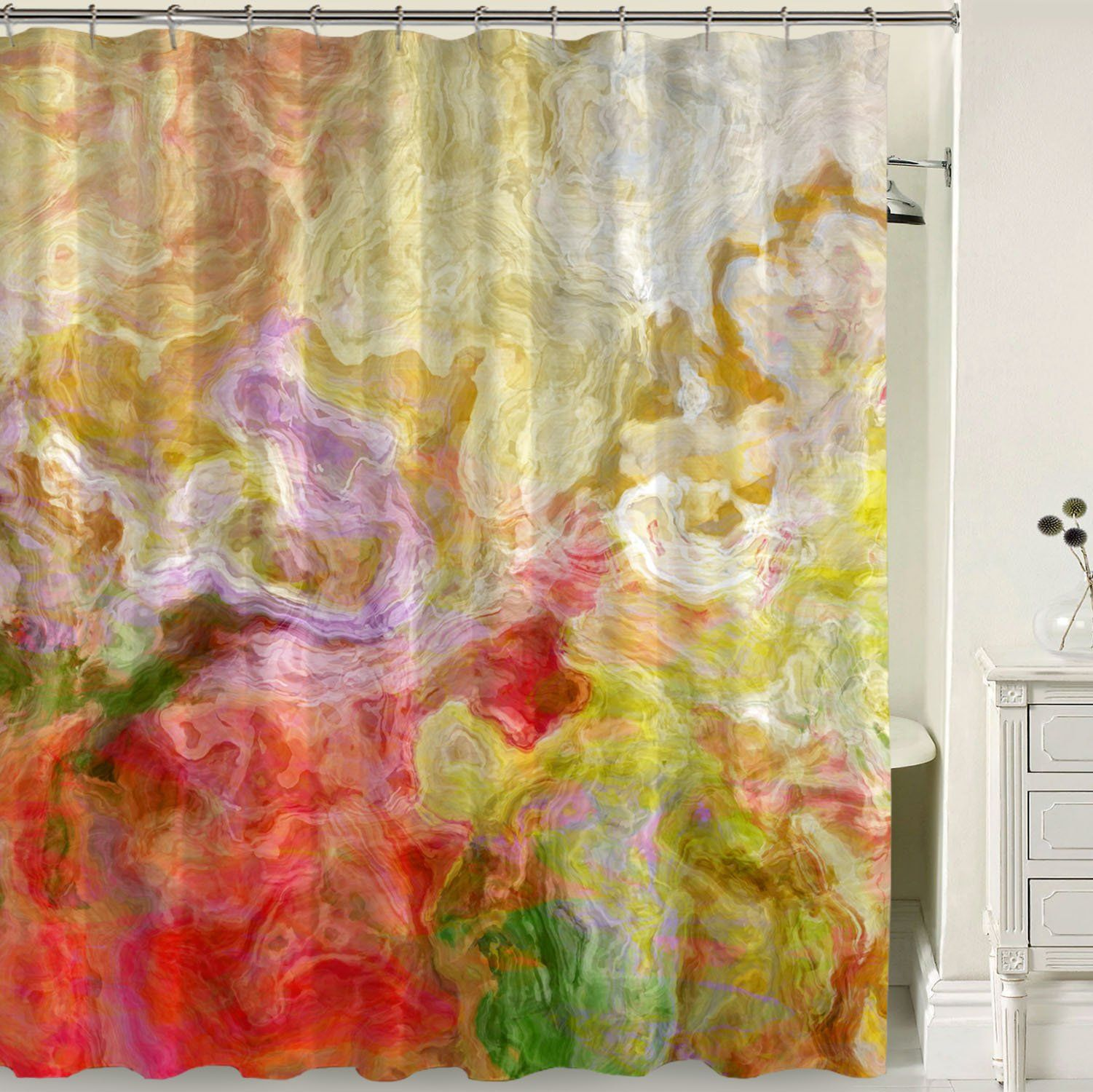 Shower Curtain Morningside Green Shower Curtains Contemporary