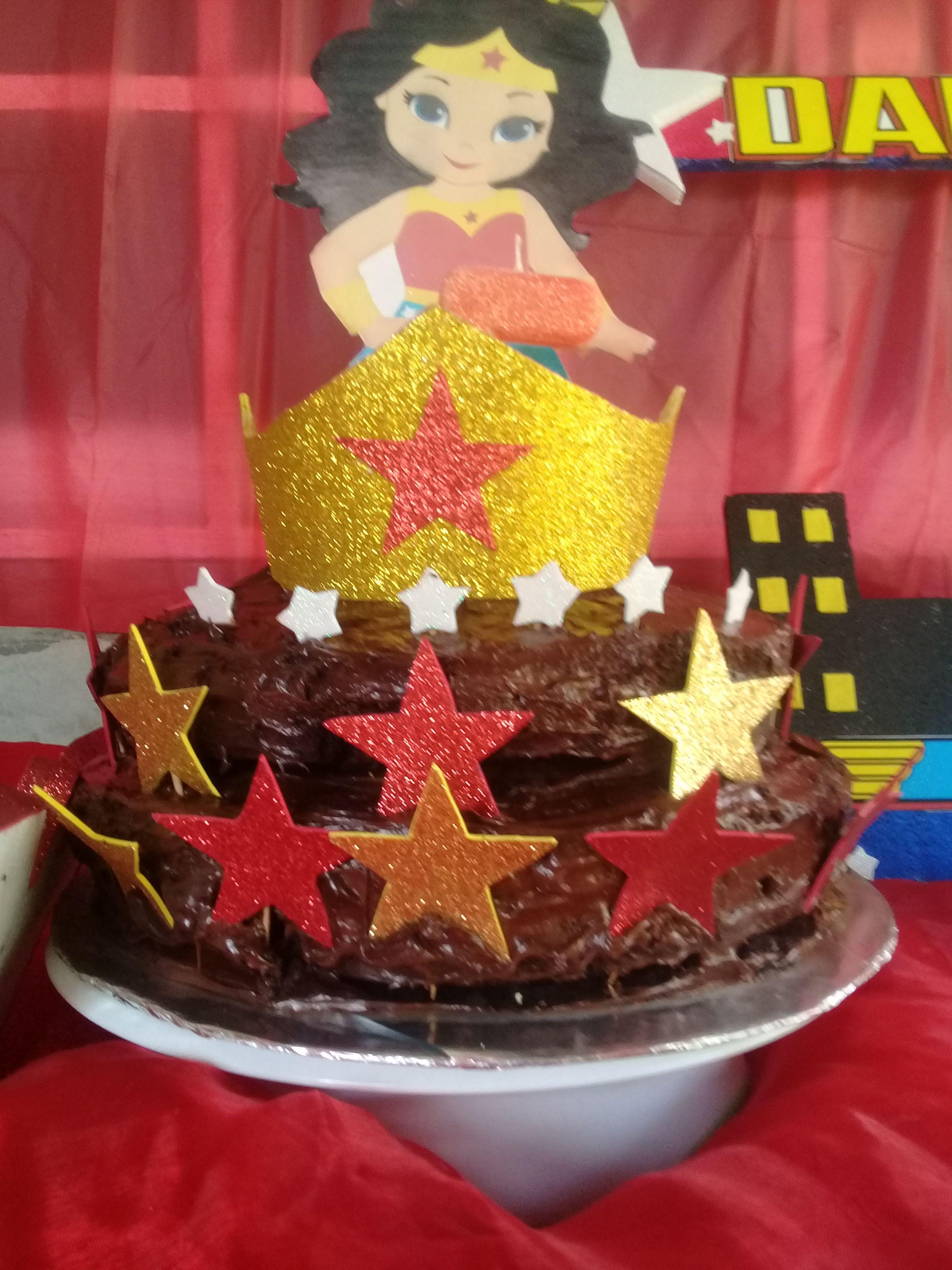 Pastel De Mujermaravilla Wonderwoman Cumpleao Happybirthday