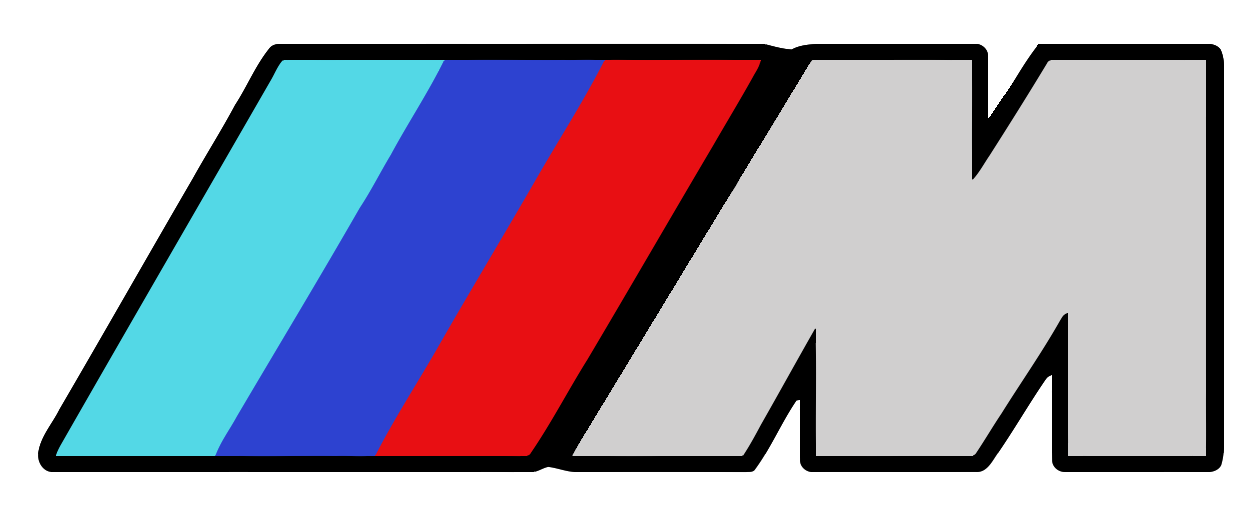 (2) BMW ///M Motorsport Logo Vinyl STICKER