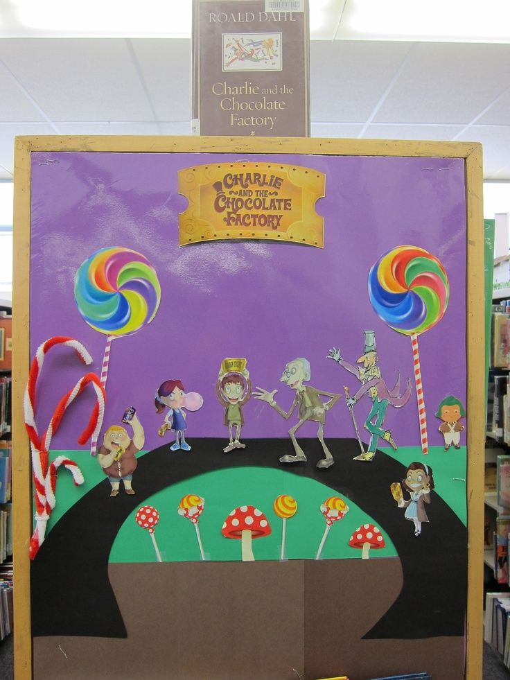 Charlie and the chocolate factory classroom display for Art book decoration ideas