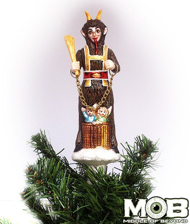 Krampus The Christmas Devil Glass Tree Topper krampus Pinterest