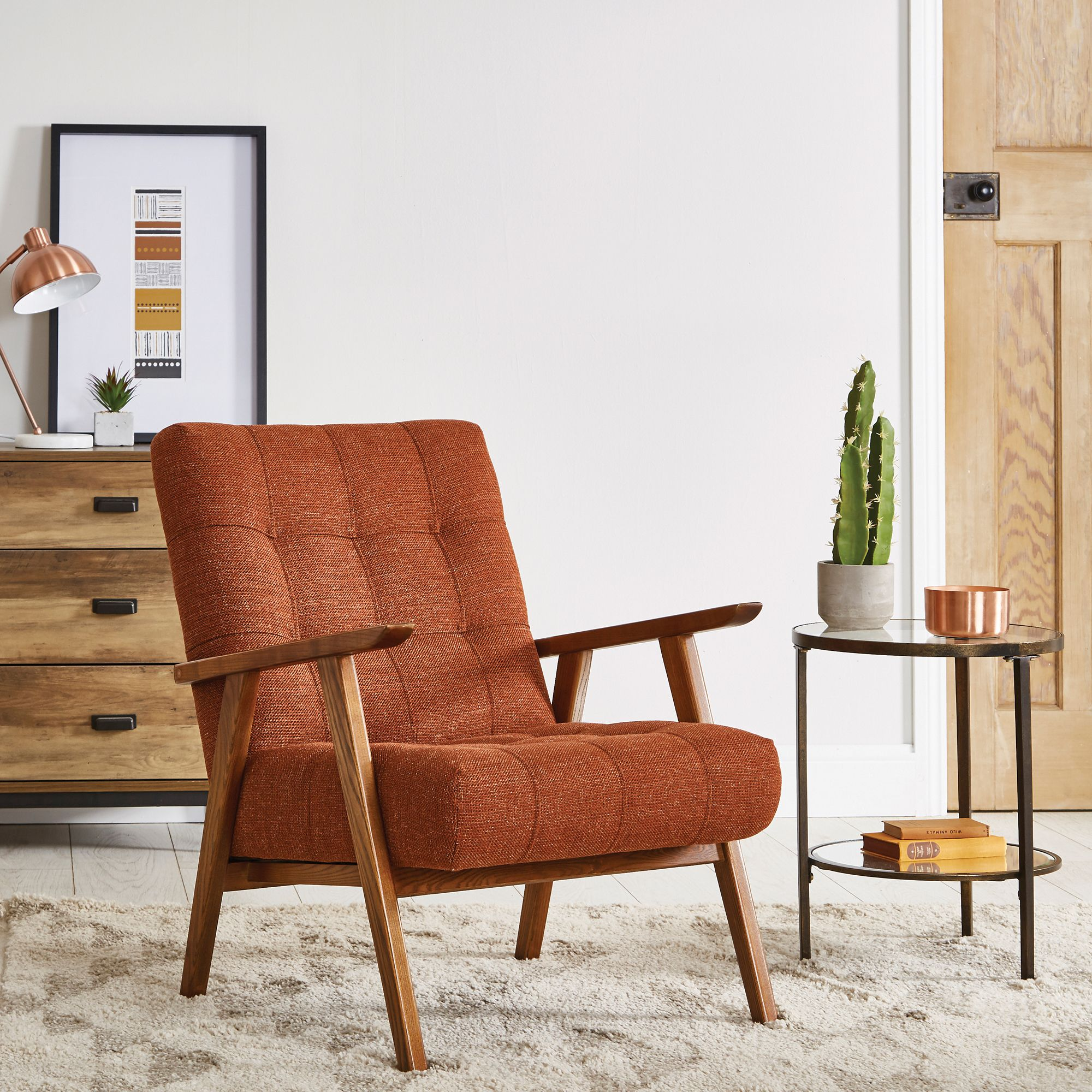 Awesome Arkin Wooden Frame Accent Chair Orange In 2019 Accent Ocoug Best Dining Table And Chair Ideas Images Ocougorg