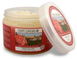Bath Petals - California Rose Garden Salt Scrub, 20 OZ U.S./ 567 g e by Bath Petals. $20.00. 100% Natural. Contains solar-dried Pacific sea salts, pure essential oils and vegetable/plant-based oils enriched with Vitamin E.. Sels exfoliants pour le Corps aux Huiles Apaisantes Essentielles de Rose & Géranium de la Californie.. Aromatherapy Properties of Rose & Geranium Essential Oils: Sweet & Soothing.. Gluten-Free & Cruelty-Free (Not Tested on Animals).. As featu...