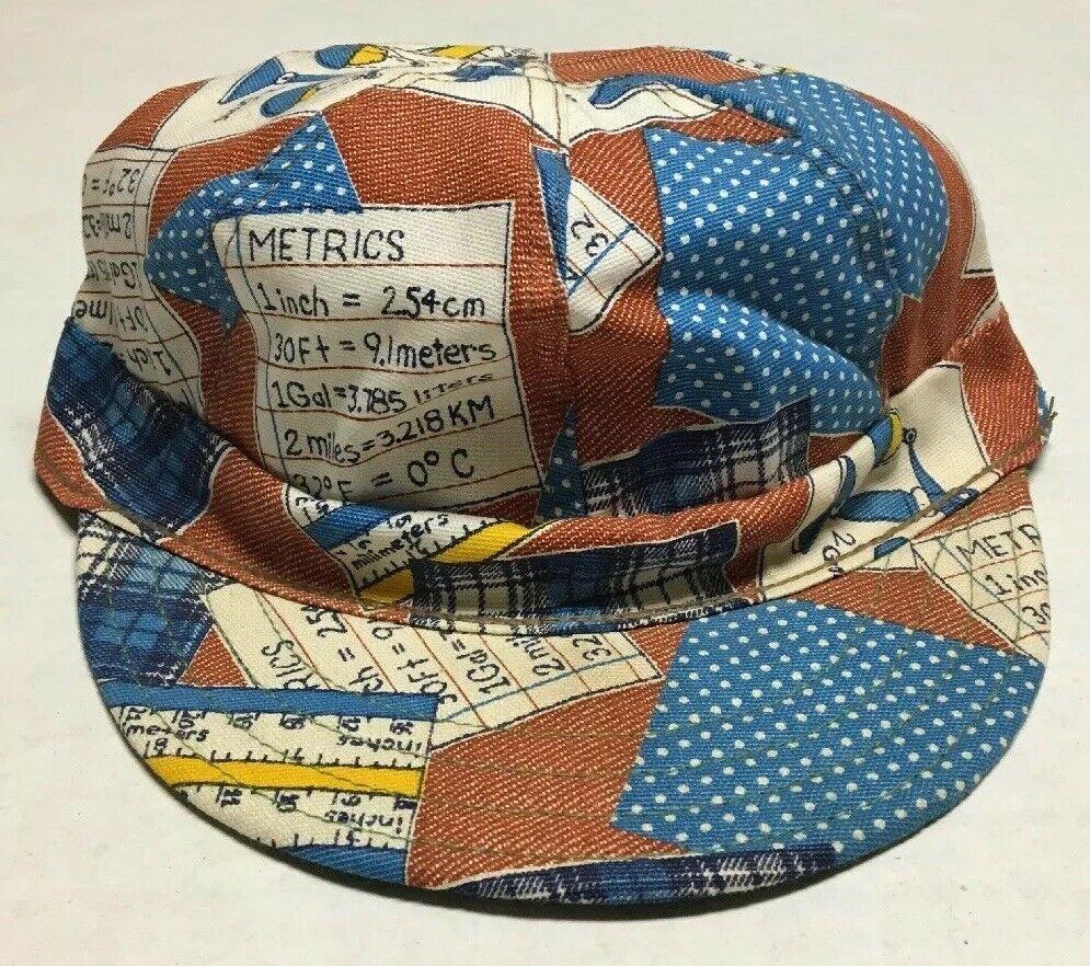 Vtg Kromer Klean Kloth Kap Made In The Usa Hat Railroad Welding Measuring Cap Kromerkleanklothkap In 2020 Patriotic Hats Red And Black Plaid Wool Caps