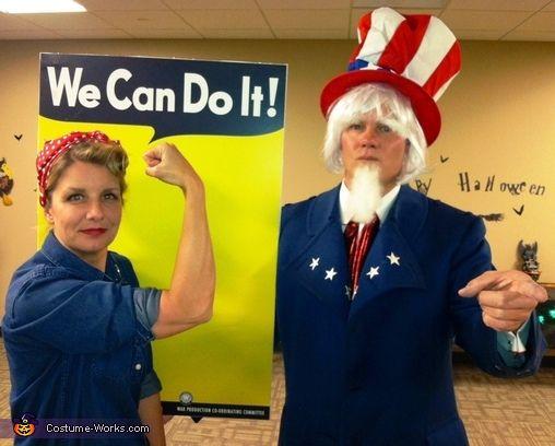 Rosie & Uncle Sam Costume | Homemade halloween, Halloween costumes ...