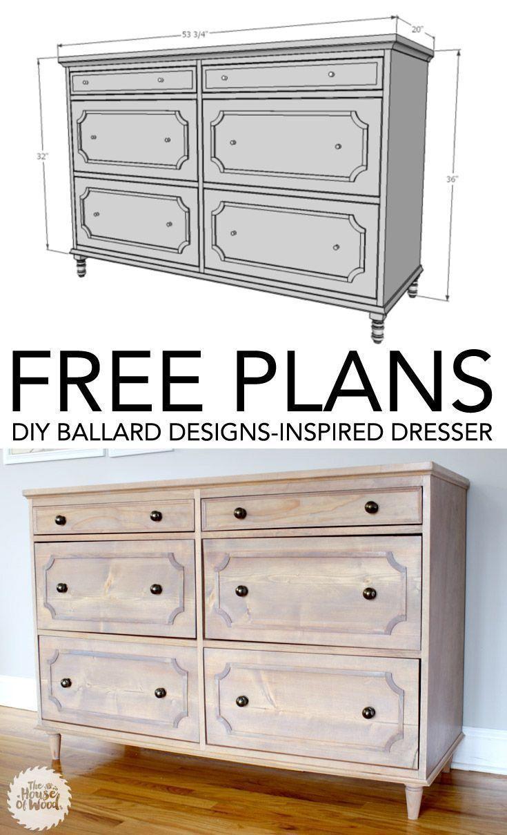 diy ballard designs-inspired dresser | free woodworking plans | diy