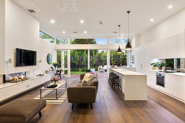 The Dining Room Open Plan Kitchen Living Room Elegant Living