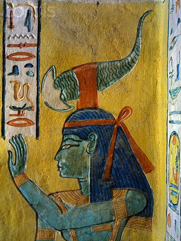 Painting of Selket from the Tomb of Khaemwaset