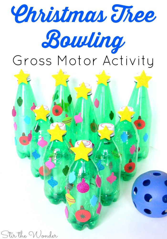 christmas tree bowling gross motor activity stir the wonder
