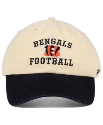 3489f28c50bc1b '47 Brand Cincinnati Bengals Steady Two-Tone Clean Up Cap - Black/Cream  Adjustable