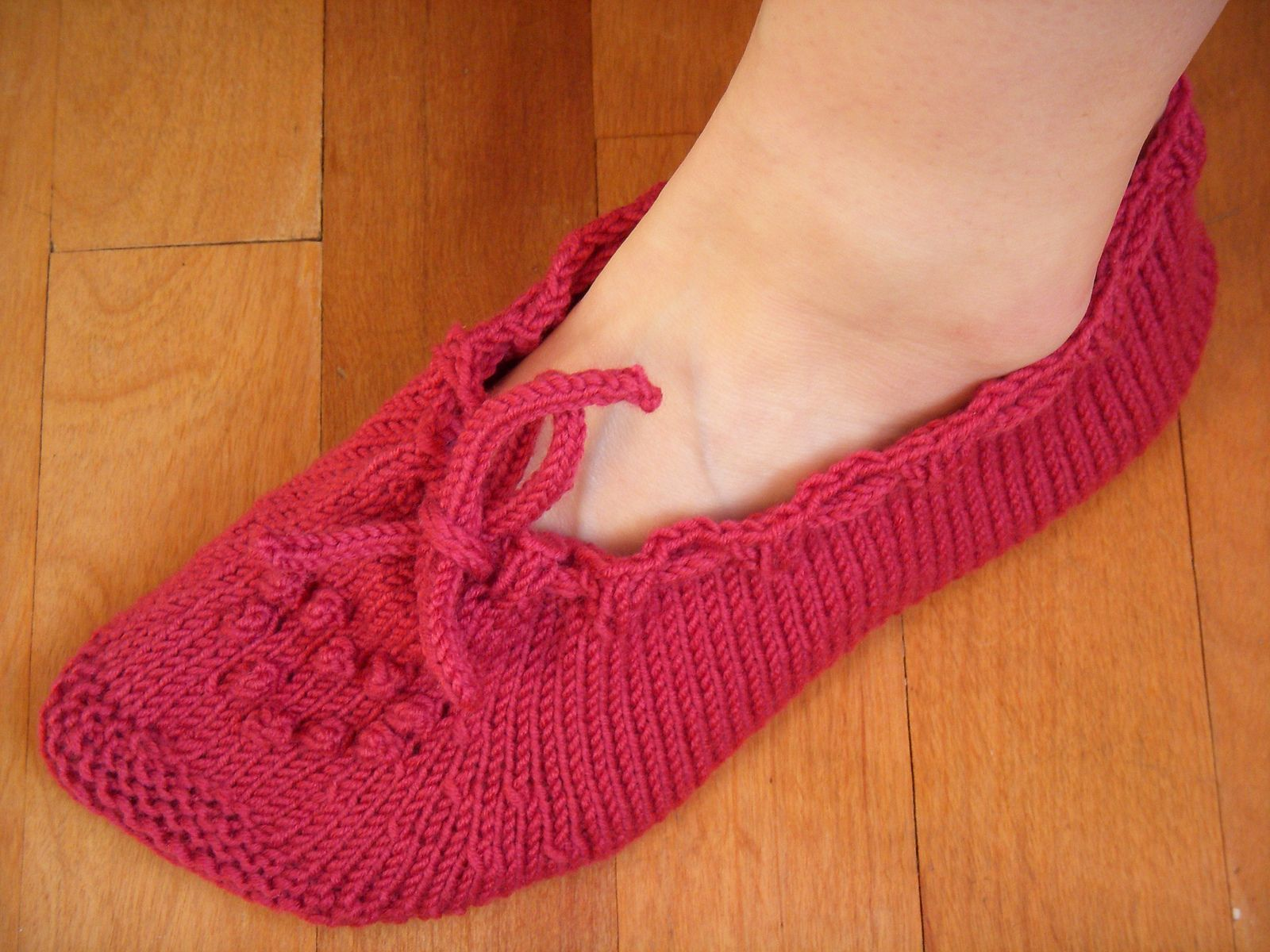Ravelry: Project Gallery for Raspberry Bed Socks pattern by Mel Clark