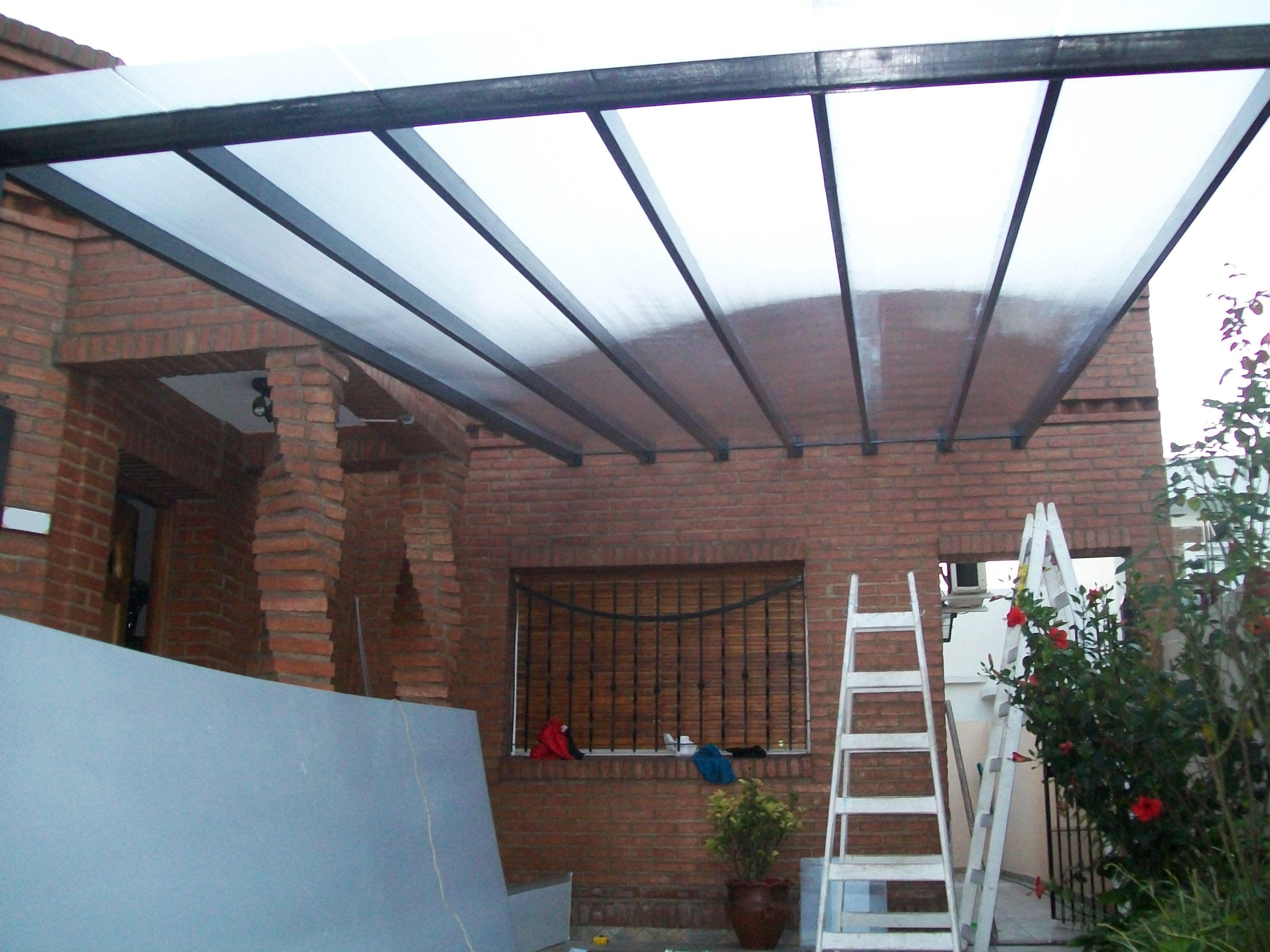 Cubierta garage realizada en ca o estructural y - Cubiertas para patios ...