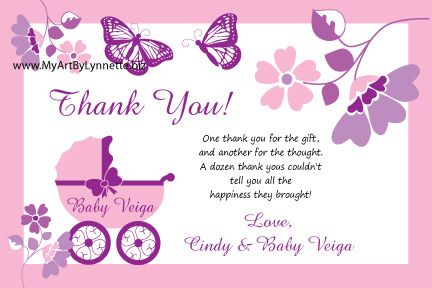 Cutiebabes Com Baby Shower Thank You Card 01 Babyshower Baby