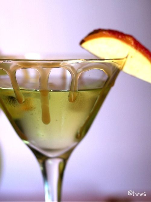 Caramels Apple Martini 1 2 Oz Vodka 99 Apples Schnapps Coffee Liqueur 4 Butterscotch Caramel Sauce And For Garnish