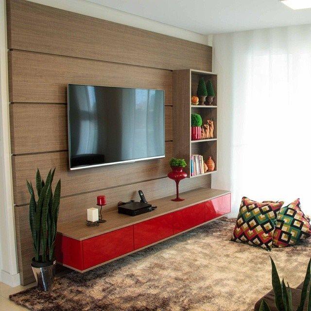 60 Salas Com Sofá Vermelho Incríveis: 70 Ideias De Salas Pequenas Decoradas E Lindas Para Se