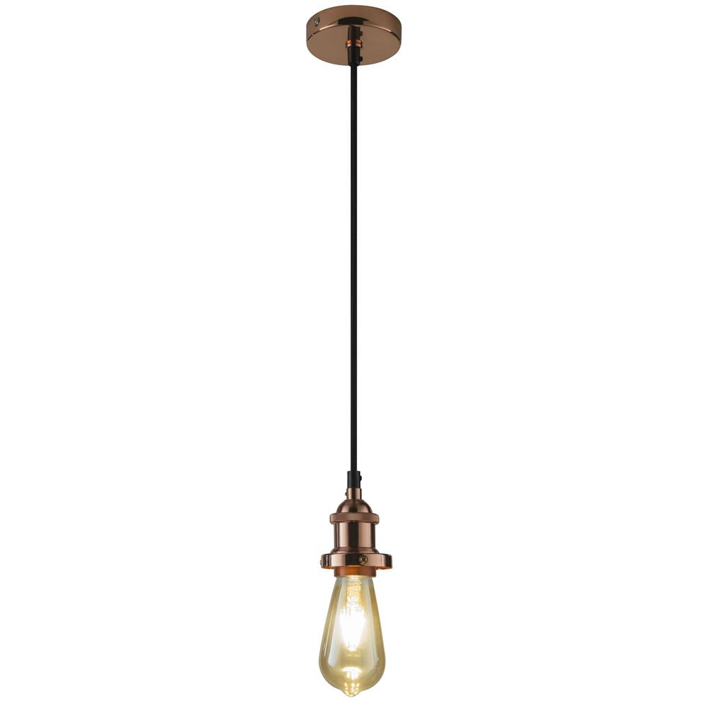 Copper Effect Suspension Lighting Kit