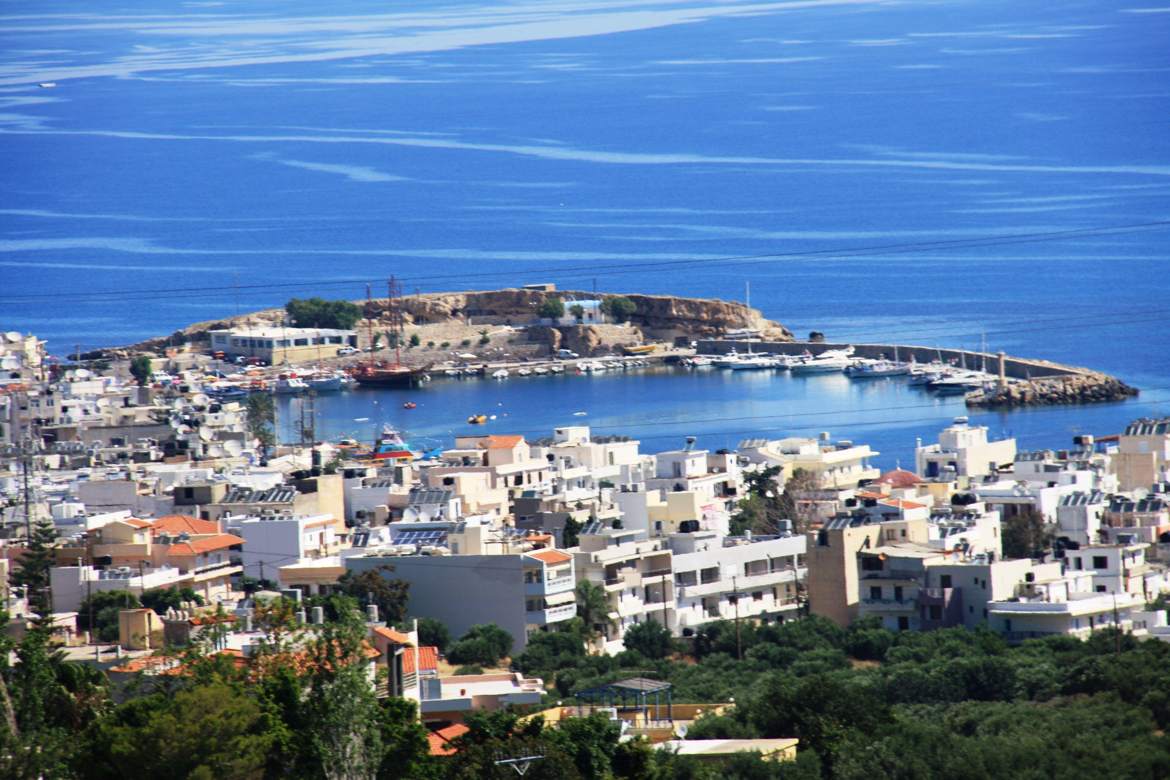 Hersonissos Crete Greece Link Creta Old Port Area From - Higher elevation