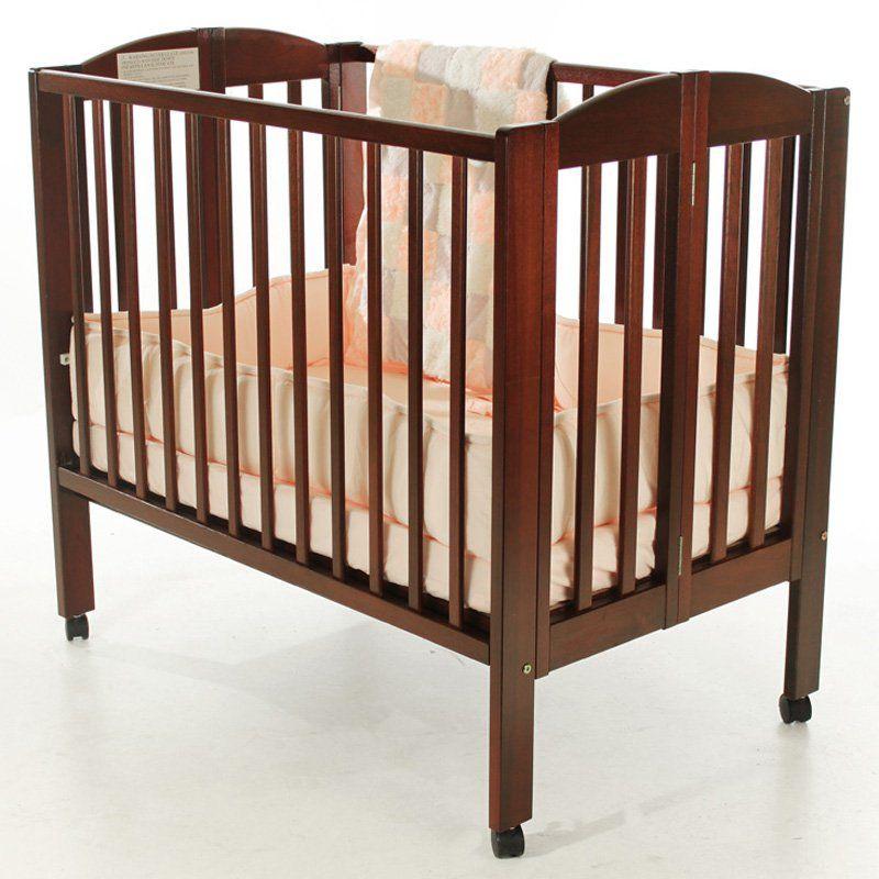 Dream On Me 2 in 1 Folding Portable Crib - Cherry - 682-C ...