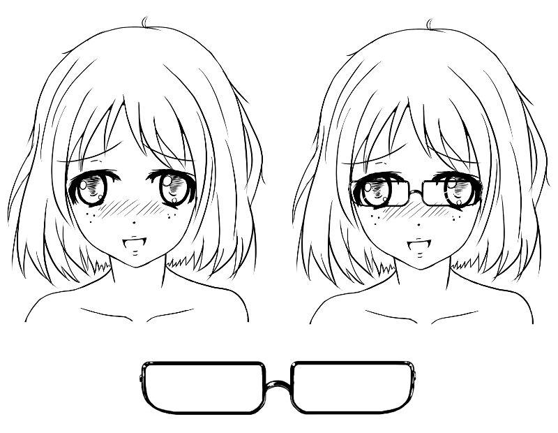 sekai 39 s blog apprendre dessiner manga tutoriel manga comment dessiner des lunettes pao. Black Bedroom Furniture Sets. Home Design Ideas