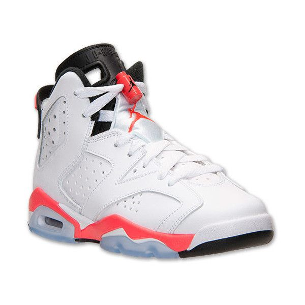 0fbe7b896e8184 Boys  Grade School Air Jordan Retro 6 Basketball Shoes ( 135) ❤ liked on Polyvore  featuring shoes and jordans.