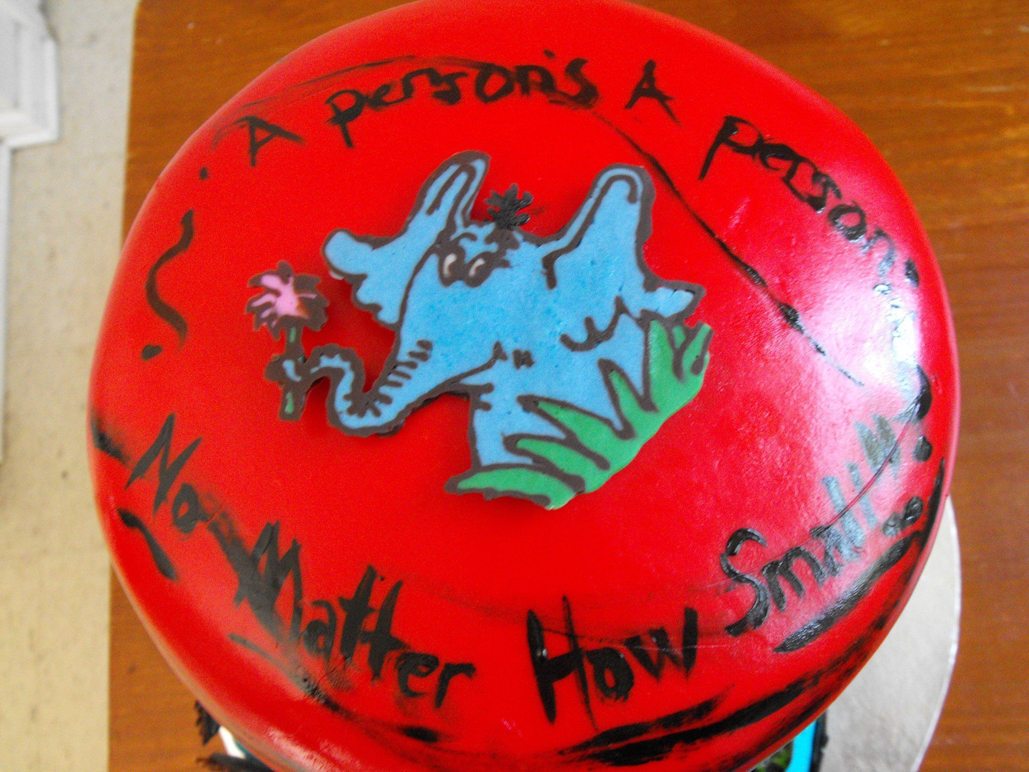 Horton Hears a Who Dr Seuss Baby Shower Cake