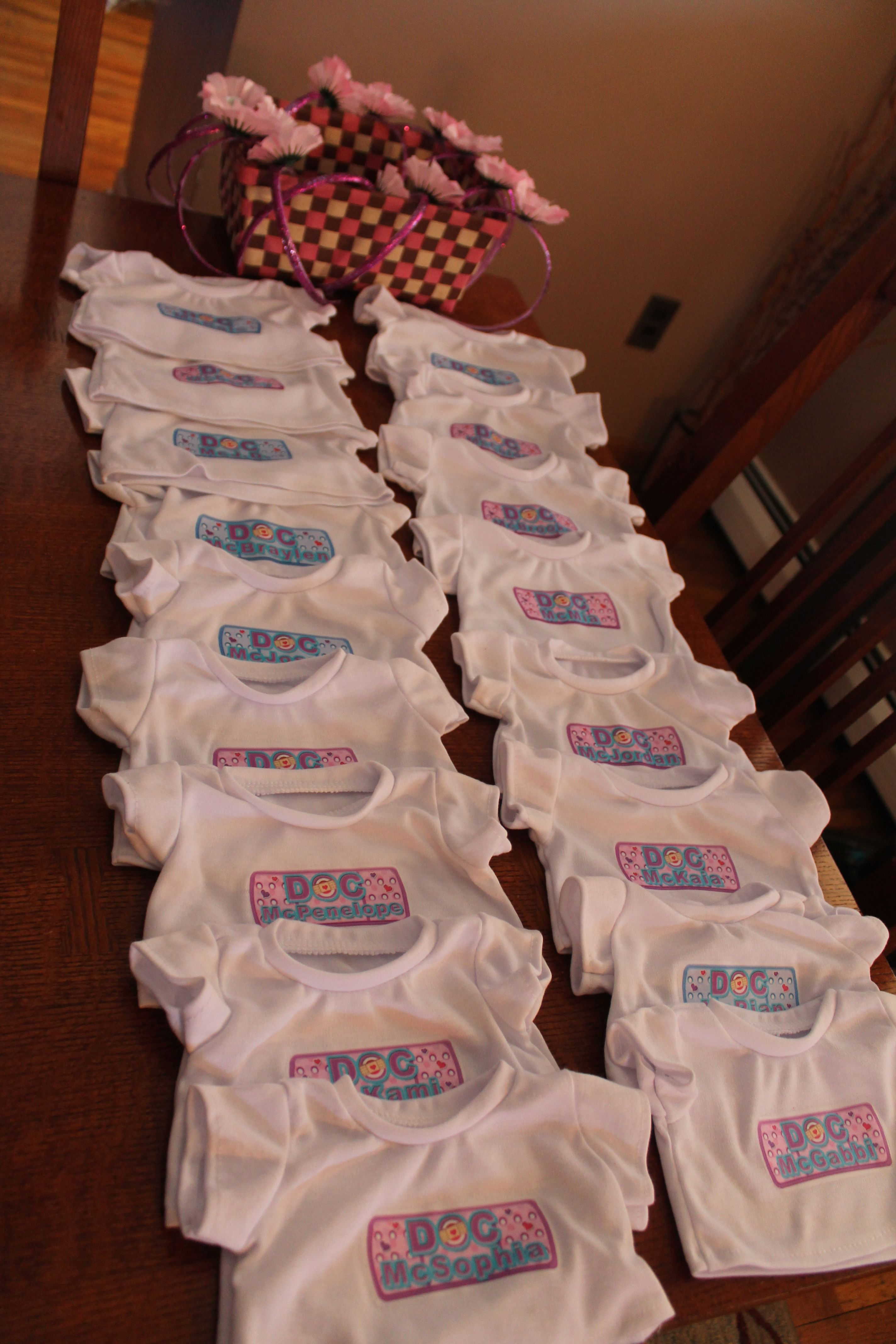 Design your own t-shirt birthday party - Build A Bear Personalized Doc Mcstuffins Bandaid T Shirts For Bears Each Shirt Shows