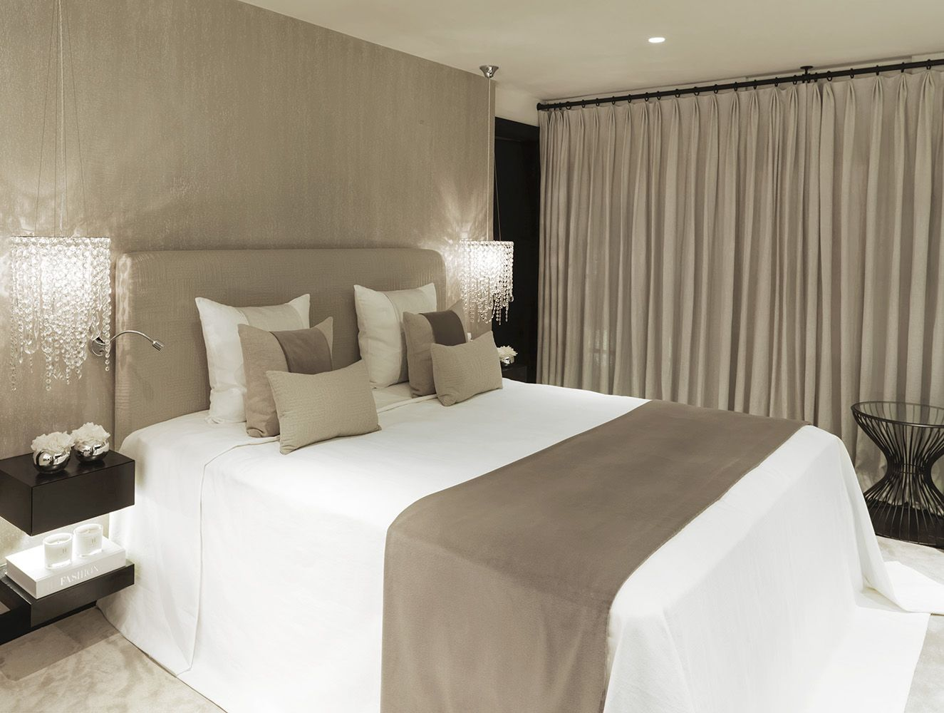 Soft Taupe And White With Black Accents Contemporary
