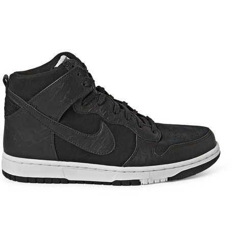 best sneakers 5d9ce db049 Nike Nike Dunk CMFT Premium Leather and Suede High-Top Sneakers   MR PORTER