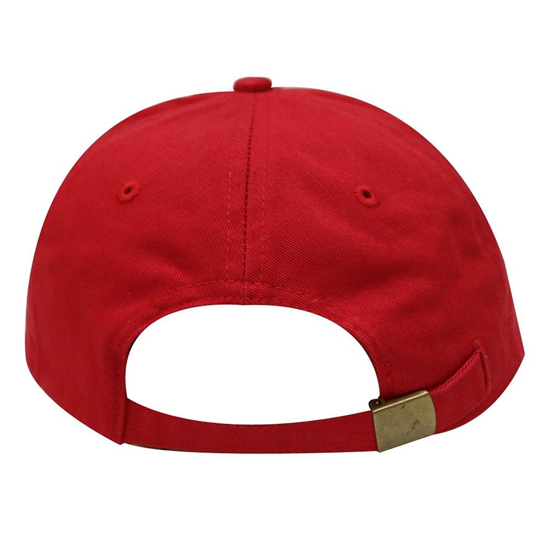 C104 Cotton Baseball Caps - 16 Colors - Red - CQ12H72MO1N  e3df6f9f6891
