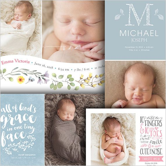 Storyboard Template Newborn Photo Collage Baby Love by FOTOVELLA - photography storyboard template