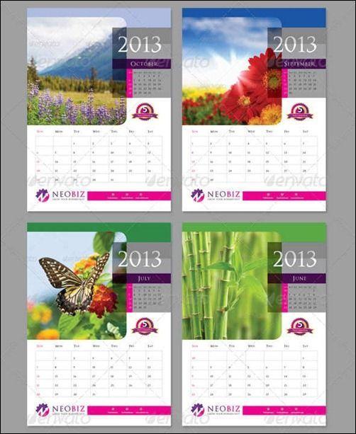 wall calendar template Google keres s naptar – Indesign Calendar Template