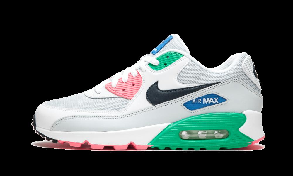 nike air max 90 essential sneaker damen schwarz weiß pink