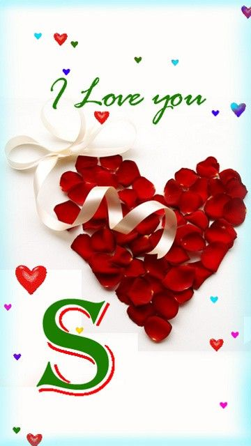 Download Letter S wallpapers to your cell phone - alphabet ... Letter C In Heart Wallpaper
