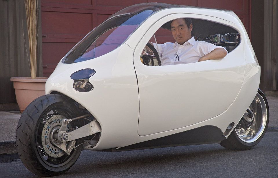 The LIT C1 bets the future of driving on a gyro-balanced two-wheeler  doesn't tip over! So freakin awesome read the article.